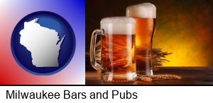 Milwaukee, Wisconsin - beer steins and hops